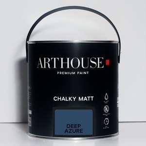 Chalky Matt Paint 2.5l Deep Azure Arthouse 1202