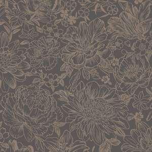 Imogen Floral Wallpaper Slate/Rose Gold Holden 65703