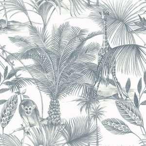 Kidatu Jungle Wallpaper Blue GranDeco JF3502