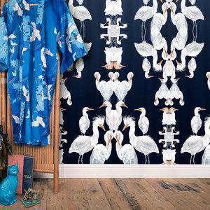 Blue Plumes Wallpaper Badgers of Bohemia BP005