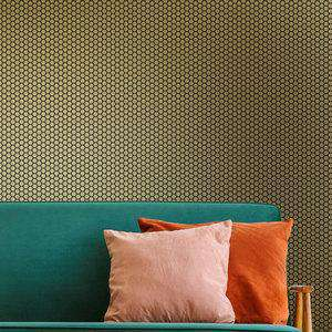 Ted Baker Fantasia Collection Hexie Platinum Wallpaper Gold Metallic 12631
