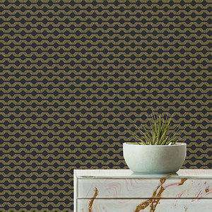 Ted Baker Fantasia Collection Mano Wallpaper Black Pearlescent 12711