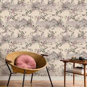 Ted's Enchanted Collection Hibiscus Wallpaper Blush, Ted Baker 12474