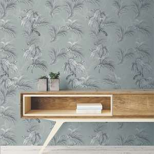 Ted's Enchanted Collection Horizon Wallpaper Grey, Ted Baker 12497