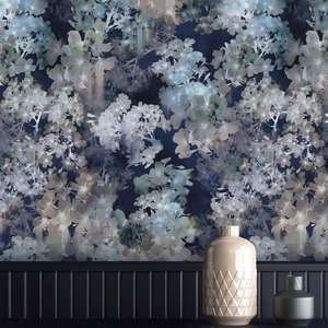 Ted's Enchanted Collection Vanilla Wallpaper Navy, Ted Baker 12489
